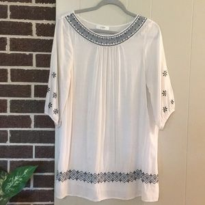 Umgee women's Ivory Cream Sheer Tunic Top Size L